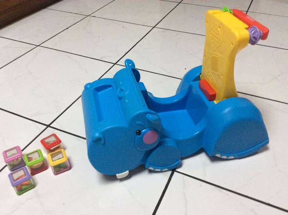 Caminadora y carrito montable Hippo bebe Fisher Price 2 en 1