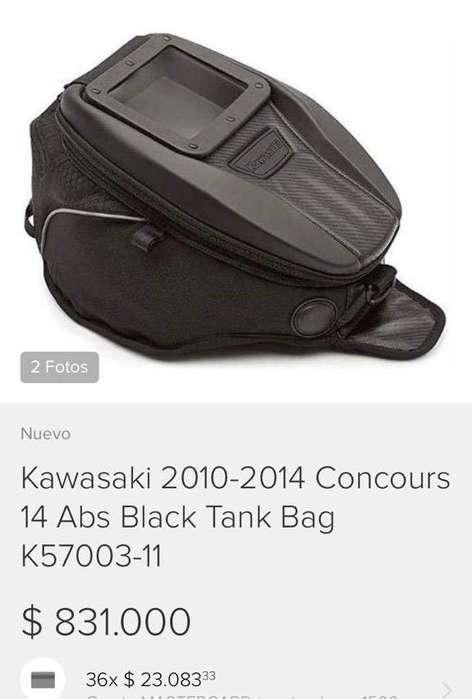 Tank Bag Kawasaki en Cuero para Moto