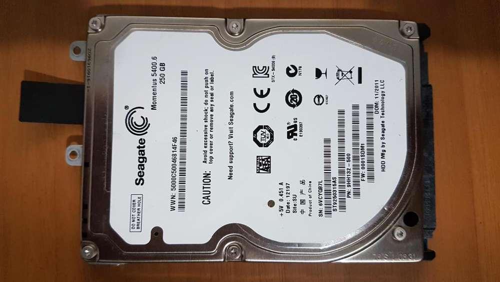 Disco rigido para notebook 250 gb