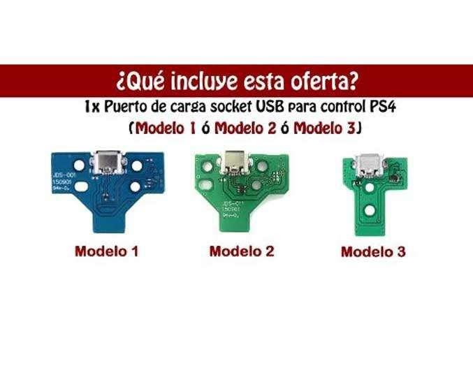 Control Ps4 Pin De Carga Puerto Usb Original Play4 Repuesto