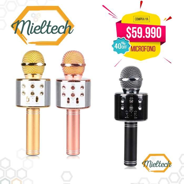 Karaoke Micrófono 3 En 1 bluetooth parlante mp3 USB