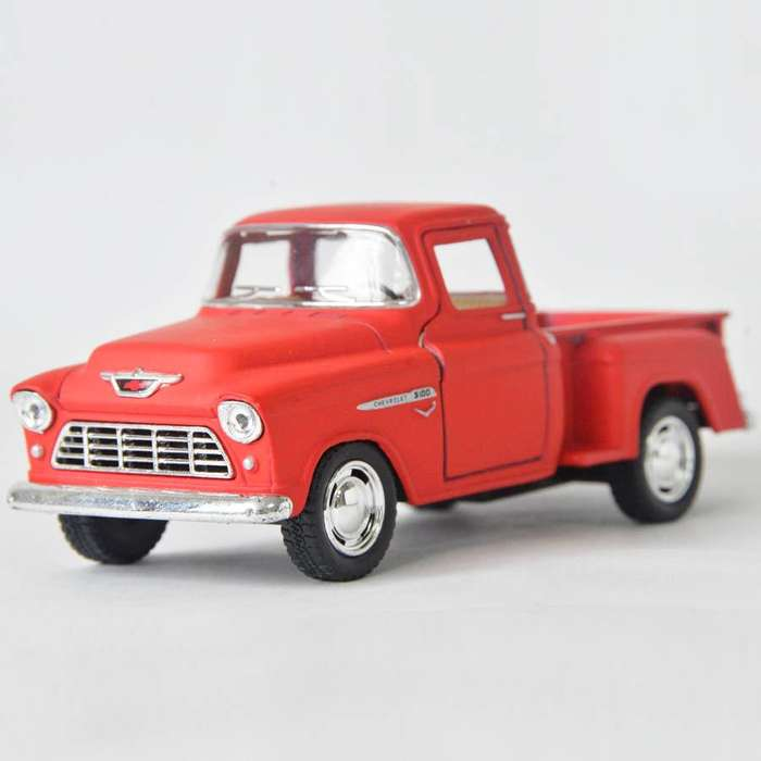 Chevy Stepside Pick Up 1955 Rojo Mate Escala 1:32 Ref 554