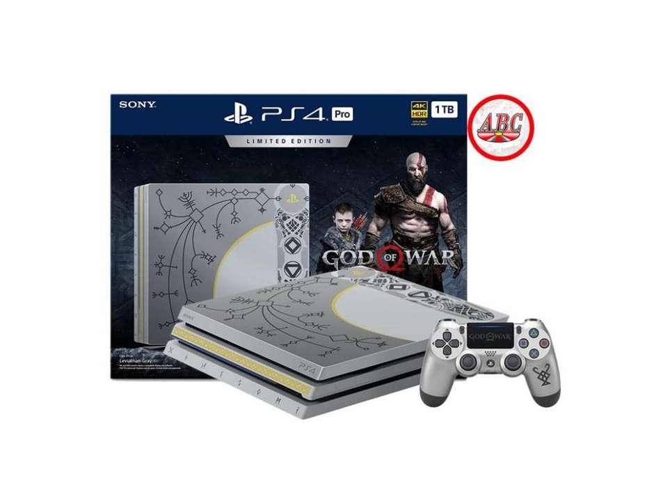Consola Playstation 4 Pro 1tb 4k Edicion God Of War Sellada
