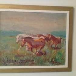 Oleos a Espatula.pisaje -caballos