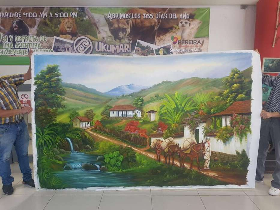 Pintura Oleo sobre Lienzo 170 X 280