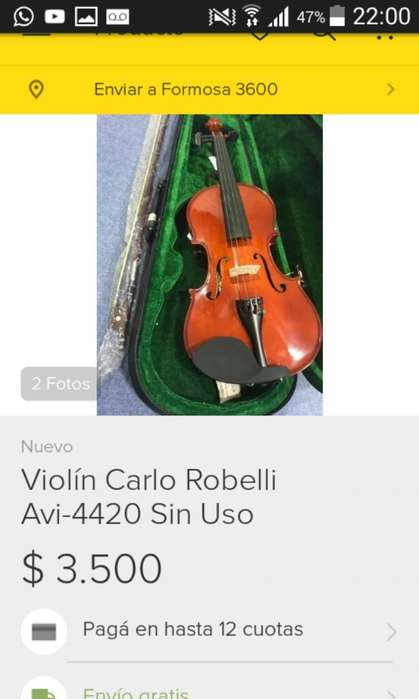 Vendo Violin Carlo Robelli Avi 4420
