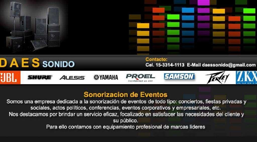 Alquiler de SONIDO e ILUMINACION BandasFiestasConferencias