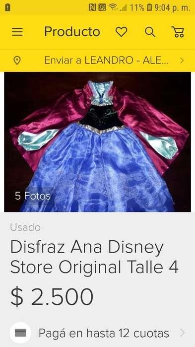 Vestido Frozen Ana Original Disney Store