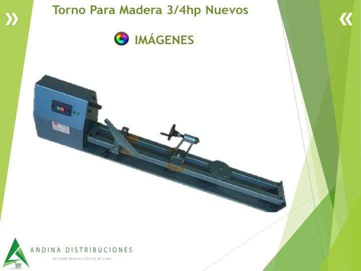 Torno Para Madera 3/4hp Nuevos Incluye Asistencia 6/1