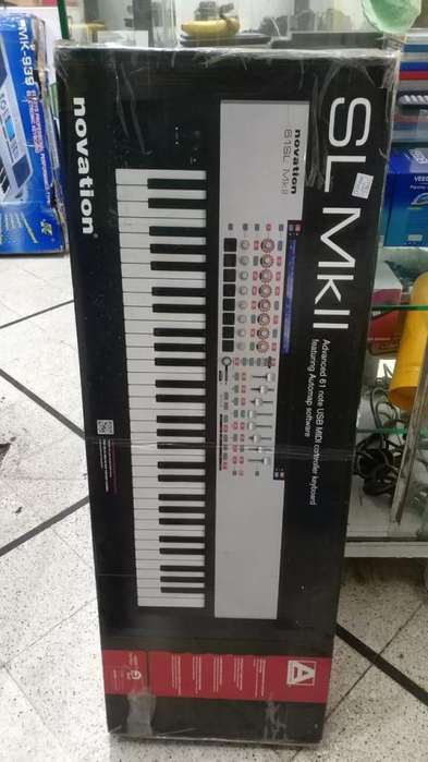 Controlador MIDI USB NOVATION SL MK 2 Como nuevo 61 teclas