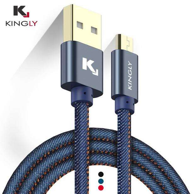Cable de datos KINGLY DENIM JEAN Micro USB Tienda virtual en Trujillo Accesorios Trujillo Kingly Shop