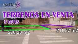 VENTA DE 2 LOTES DE TERRENO URB. EX CORP PIURA