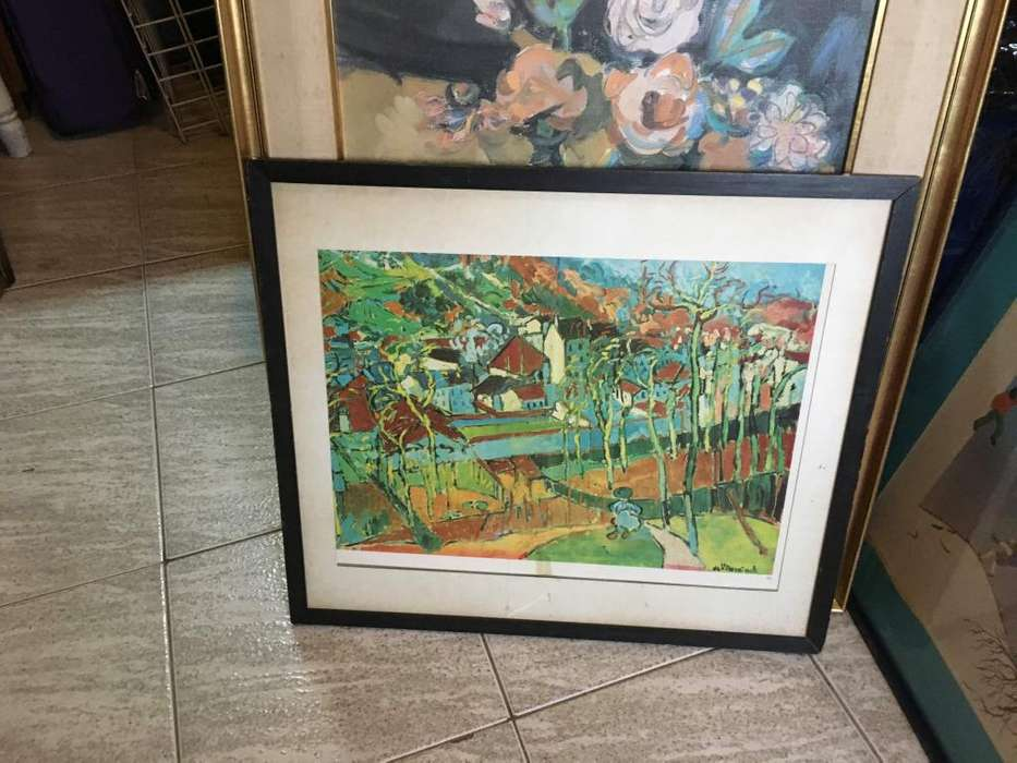 Cuadro enmarcado 63 x 77 cm