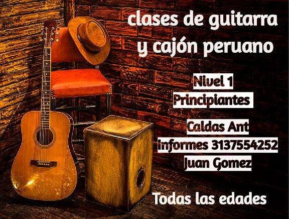 Cajón peruano y guitarra