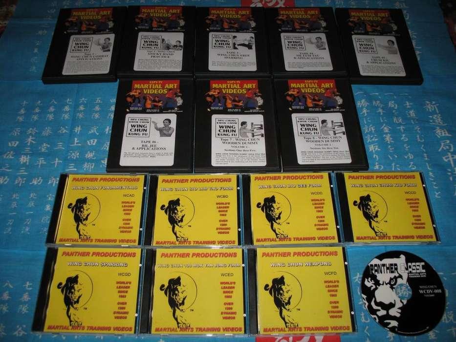 DVD INSTRUCTIVOS DE ARTE MARCIAL WING CHUN KUNG FU POR SIFUS CHANG KWOK CHOW AUGUSTINE FONG 16 DISCOS