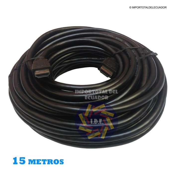 Cable HDMI ''nuevo'' tipo flexible versión 1.4 / hd, full hd, 3d, con ethernet y 4k a 24 hz / Longitud 15 metros