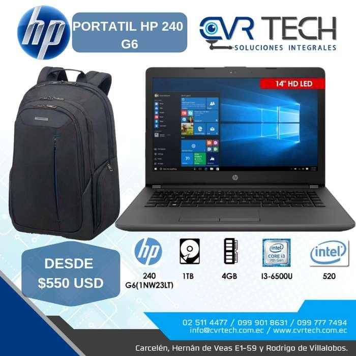 PORTATIL HP 240 CORE I3, 1TB, 4G, 14