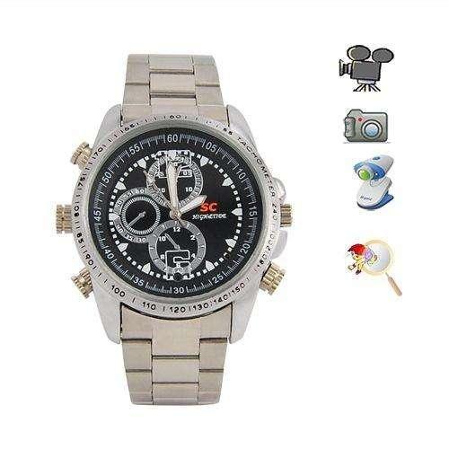 Reloj Espía Metalico Con Camara 8 Gb