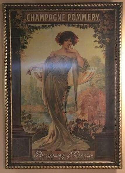 Cuadro Lamina Afiche Champagne Pommery Importado Vintage Antiguo Enmarcado con VIdrio
