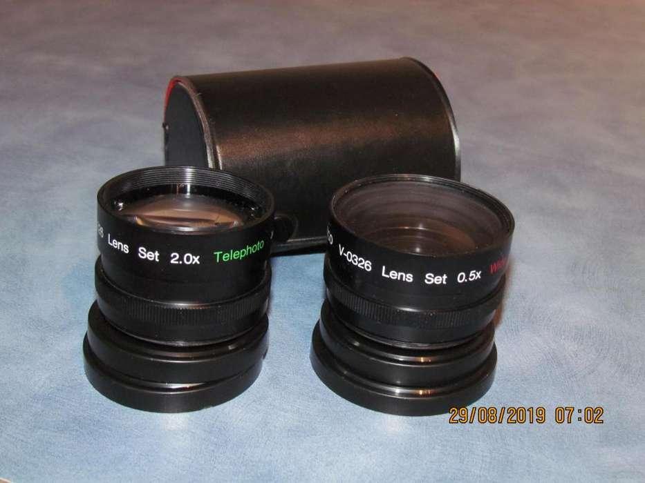 Set de dos Lentes Wide Angle 0.50x Telephoto 2.0x 55 mm. Nuevos. Estuche Original.