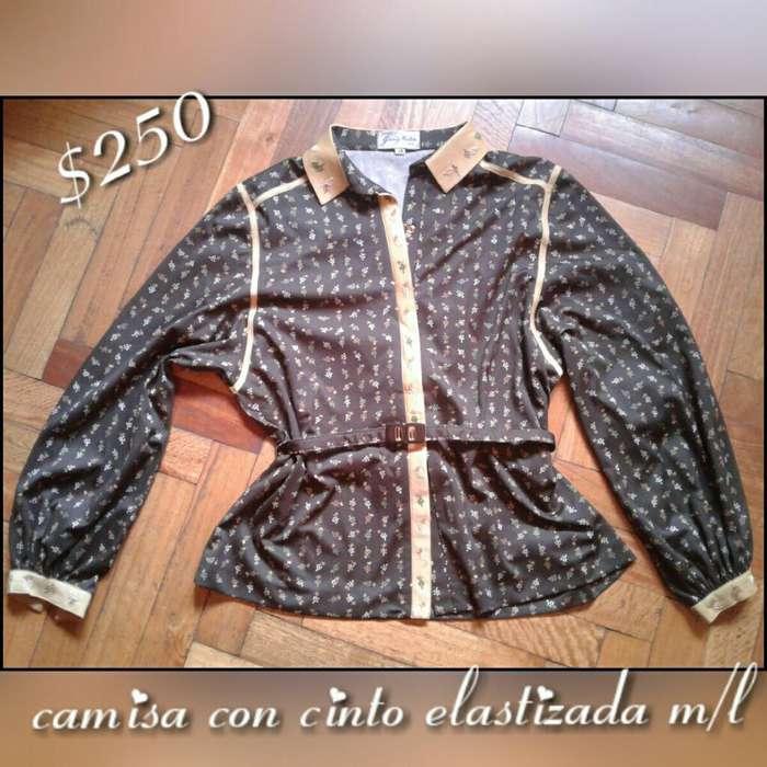 <strong>camisa</strong> Elastizada con Cinto