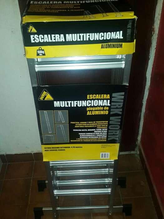 Escalera Plegable Aluminio 4,70
