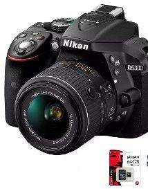 Camara Nikon D5300 Kit 18 55 sd32gb