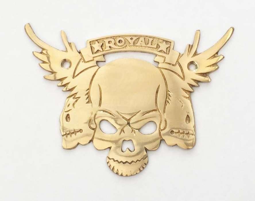 Placa Decorativa Royal Enfield Metálica Hecha En Metal