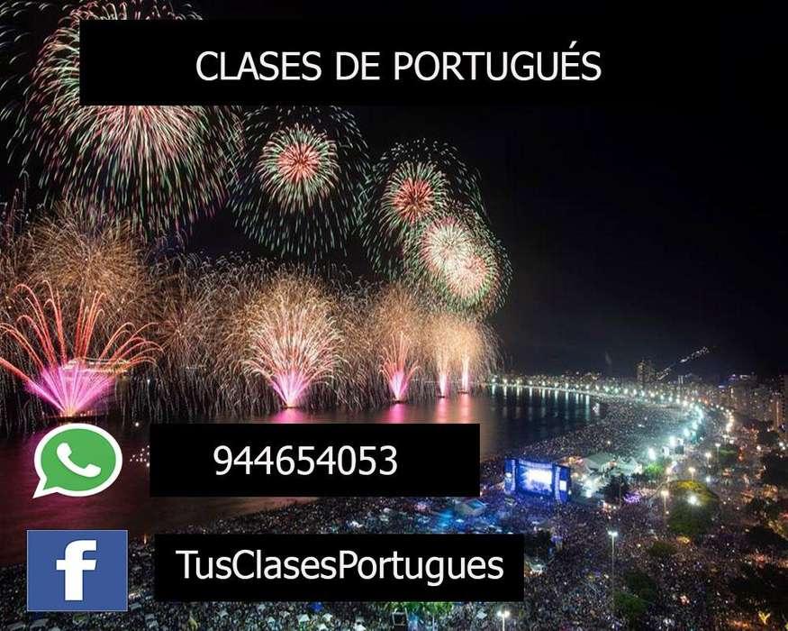 Clases de Portugués en Lima (Presencial) todo el Perú (virtual) con Profesores Nativos - 944654053