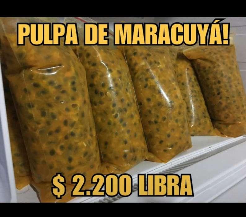 Venta Pulpa de Maracuyá (precio X Libra)