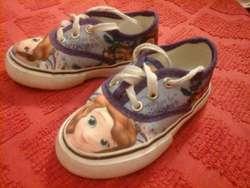 Zapatillas Princesa Sofia. Sin uso
