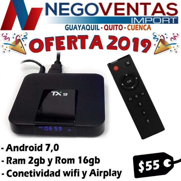 TV BOX TX9 2GB RAM - 16GB INTERNA CONVIERTE TU TV A SMART DESCARGA TUS APLICIONES PREFERIDAS