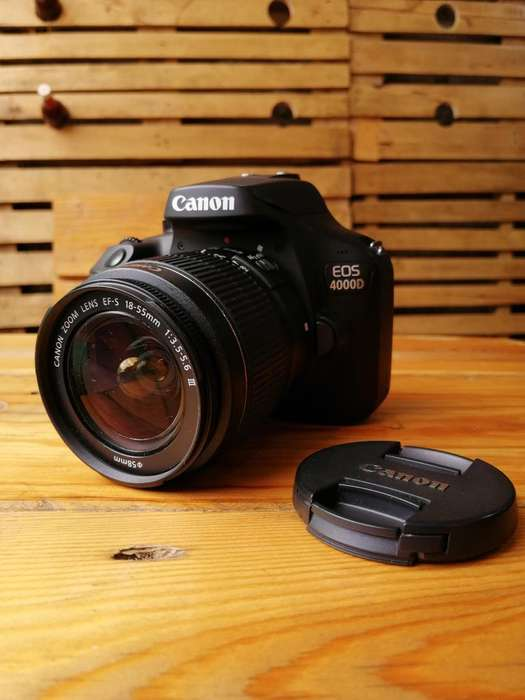 Canon Eos 4000d Cámara 18mplx Full Hd