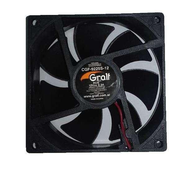 Turbina Cooler Gralf Dc 12v 0.3a 3,5 Pulgadas 92x25 Mm Buje