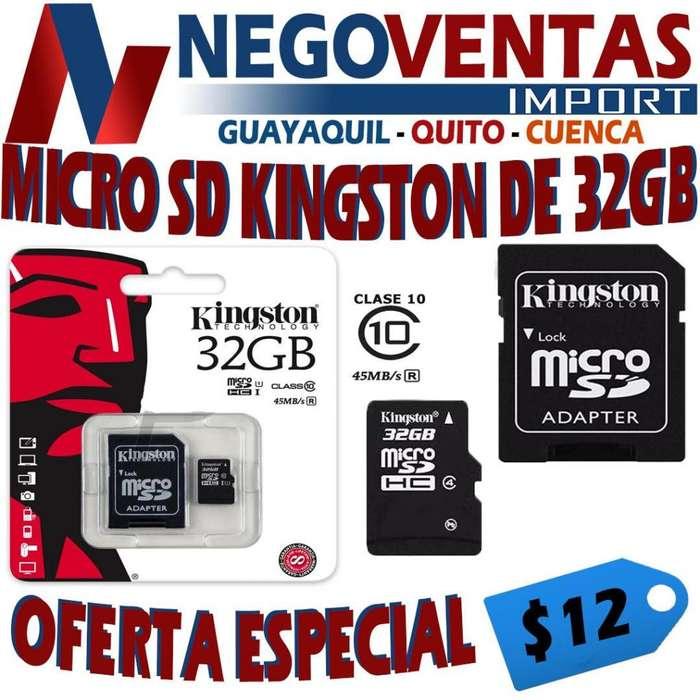 MICRO SD KINNGSTON DE 32 GB TARJETA DE MEMORIA