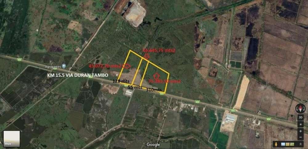 Terreno 16.645.75 m2 Vendo, Vía Duran-Tambo Km 15.5,