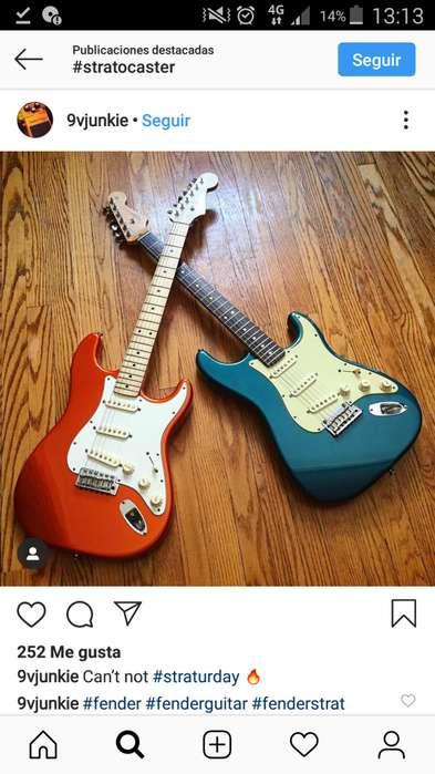 Guitarra electrica con amplificador estado 910