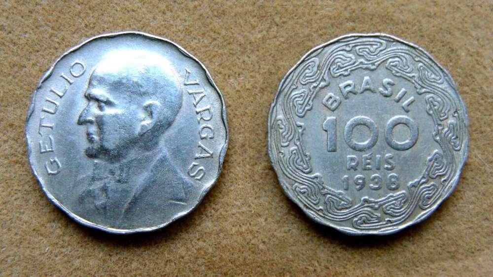 Moneda de 100 reis Brasil 1938