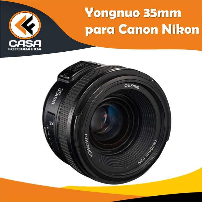 LENTE YONGNUO 35mm PARA NIKON d5300 D5600 D3300 D3400 D3300
