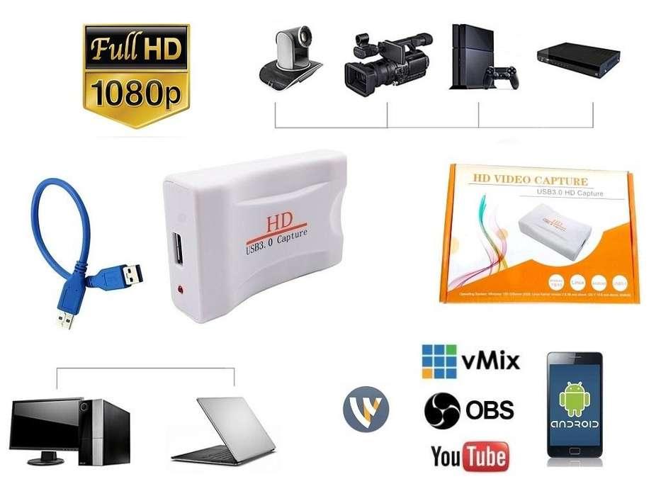 Capturadora Video Hdmi Usb Full Hd 1080p Laptop Smartphone