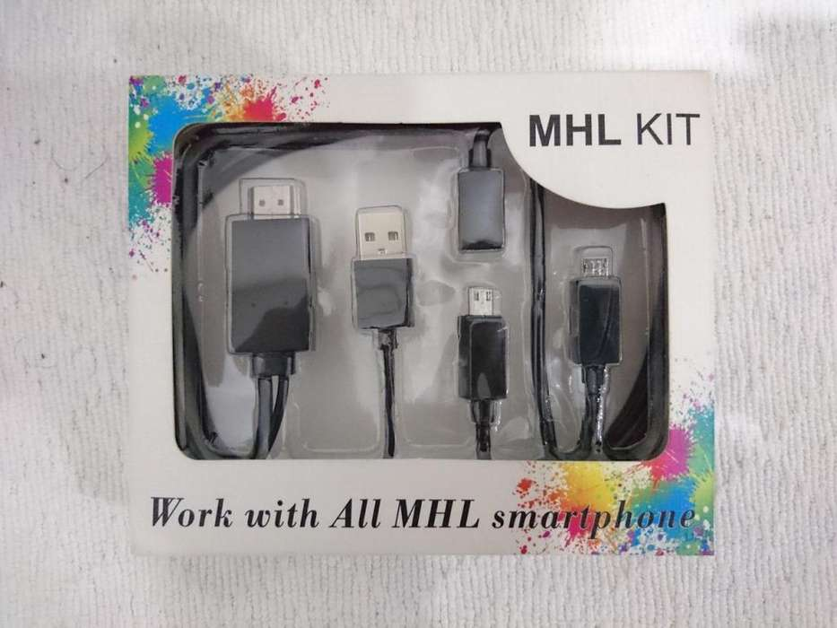 Cable MHL a HDMI Sony Xperia, Samsung, Huawei, HTC, Cable 5 a 11 pines