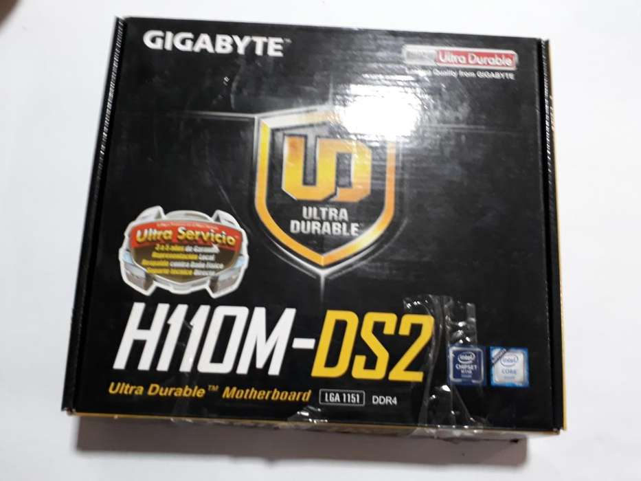 VENDO PLACA MADRE GYGABYTE H110M-DS2 IMPECABLE