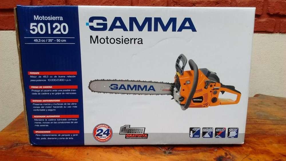 MOTOSIERRA GAMMA DE 20 MOTOR DE 2.7 HP ESPADA DE 50cm SUPER OFERTA!!