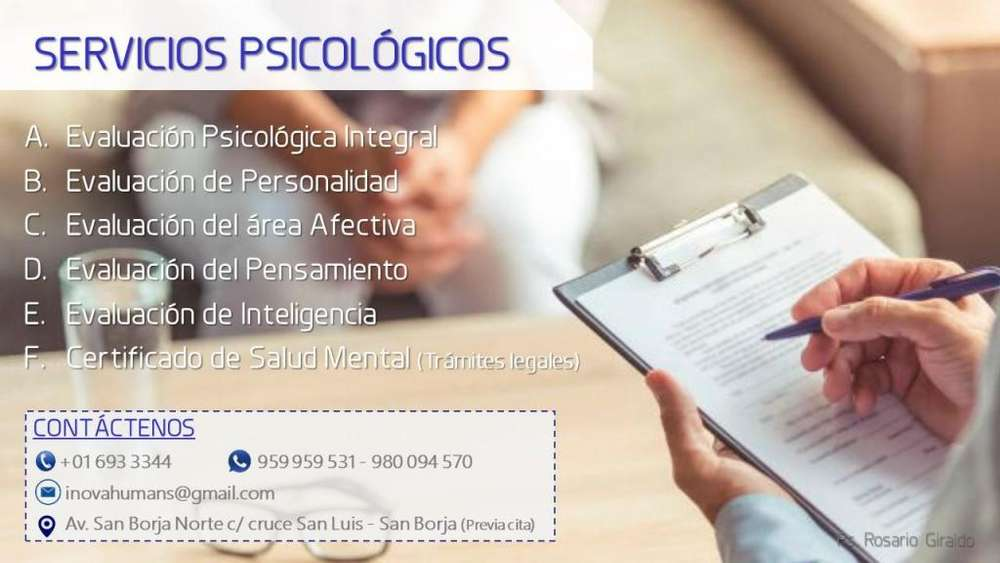 SERVICIOS PSICOLÓGICOS Lima