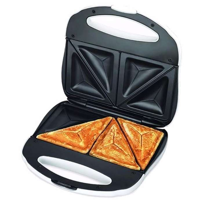 Sandwichera Tostadora Electrica Winco W017 Doble Pan Lactal