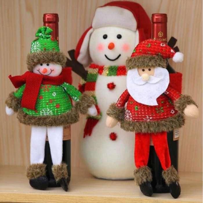 Accesorios Botella De Vino Decoración Navidad