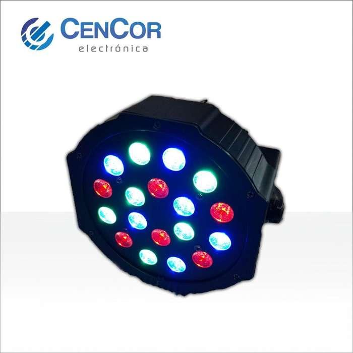 Flash Audioritmico multicolor 18 Led! CenCor Electrónica