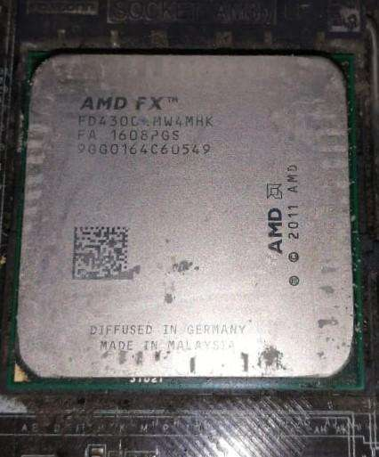 Procesador Amd FX 4300 Black AM3 4 Nucleos 3.8 GHz