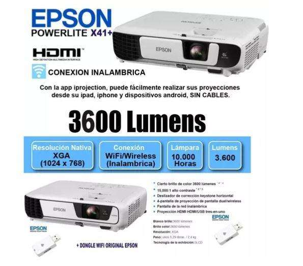 <strong>proyector</strong> Epson X41 Wifi Hdmi, 3600 Lumenes, Nuevo