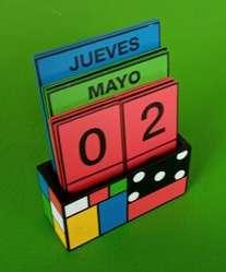 Calendario Madera
